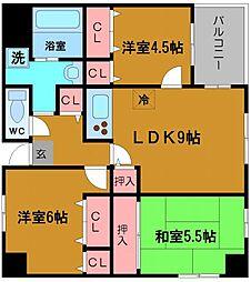 ウーファー南堀江[7階]の間取り