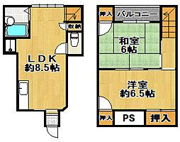 ボンジュール南恩加島 3階2LDKの間取り