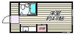 大阪府大阪市北区南森町1丁目の賃貸マンションの間取り
