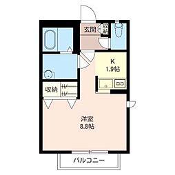 フローラ平間[1階]の間取り
