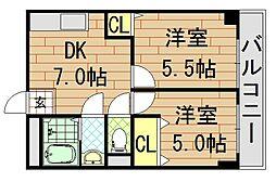 サンライフ小阪[405号室]の間取り