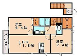 クレールメゾン諸岡[2階]の間取り