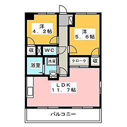 メディオ初生壱番館[1階]の間取り