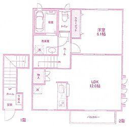 [テラスハウス] 神奈川県川崎市宮前区小台2丁目 の賃貸【/】の間取り