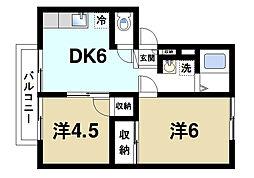 富雄アーバンハイツ[2階]の間取り