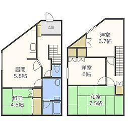[一戸建] 北海道札幌市厚別区厚別中央二条3丁目 の賃貸【/】の間取り