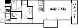 レンレンロイヤルガーデン[6階]の間取り