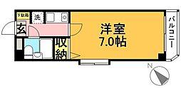 クリスタル東松原[201号室]の間取り