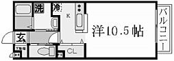 兵庫県西宮市弓場町の賃貸アパートの間取り