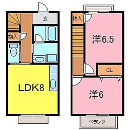 [テラスハウス] 愛知県知立市牛田町原山 の賃貸【/】の間取り