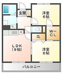 ルクレール垂水[2階]の間取り
