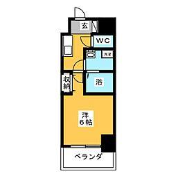 PRIME NEXUS 京急鶴見 10階1Kの間取り