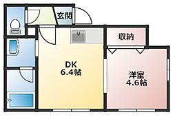 ラ・グラン澄川I番館 3階1DKの間取り