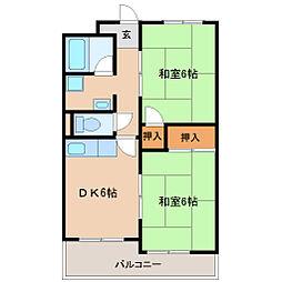 兵庫県尼崎市東塚口町1丁目の賃貸マンションの間取り