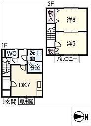 [タウンハウス] 愛知県清須市清洲 の賃貸【愛知県 / 清須市】の間取り