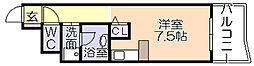 ライオンズマンション六ツ門第2[2階]の間取り