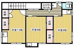 清美荘[2階]の間取り