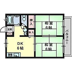 エクセレント高槻A棟[2階]の間取り