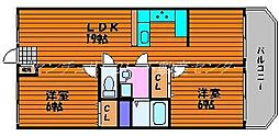 岡山県岡山市南区泉田の賃貸アパートの間取り