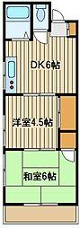 東京都練馬区西大泉2の賃貸アパートの間取り