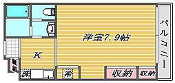 埼玉県さいたま市大宮区桜木町2丁目の賃貸アパートの間取り