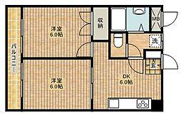 第3桂ビル[202号室]の間取り