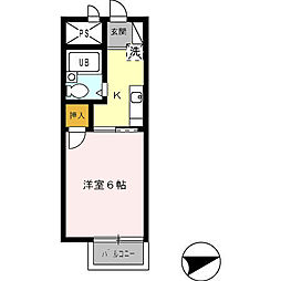 ハイツ神田[203号室]の間取り