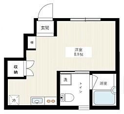 東京都世田谷区経堂4丁目の賃貸アパートの間取り