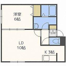 ミ・カラームN21[1階]の間取り