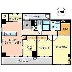スカール桜木[3階]の間取り