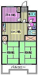 パークパレス[4階]の間取り
