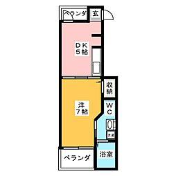 ボヌール・シュン[1階]の間取り
