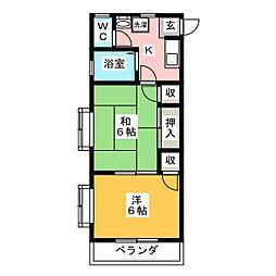 岡崎第8東海ビル[4階]の間取り