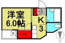 ビーンズ平井[5階]の間取り