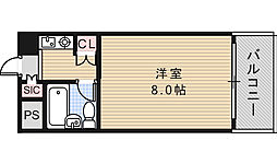 パレユニオン鶴ヶ丘[201号室]の間取り