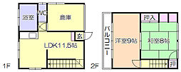 [一戸建] 福岡県久留米市中央町 の賃貸【福岡県 / 久留米市】の間取り
