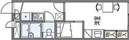 水間鉄道 水間観音駅 徒歩11分の賃貸アパート 1階1Kの間取り