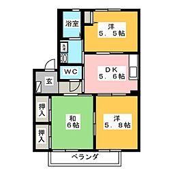 ソレーユII[2階]の間取り