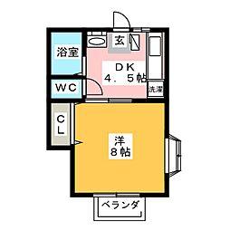 ミユキハイツII[2階]の間取り