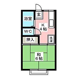 ホワイトヴィラ金井C[2階]の間取り