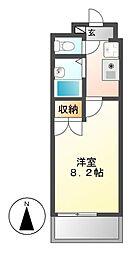 愛知県名古屋市昭和区南分町1丁目の賃貸マンションの間取り