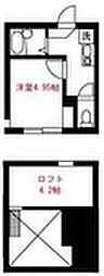 Elua西横浜[203号室]の間取り