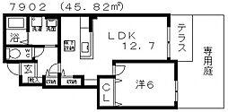 ボヌールメゾン[102号室号室]の間取り