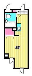 西武新宿線 東伏見駅 徒歩10分の賃貸マンション 3階ワンルームの間取り