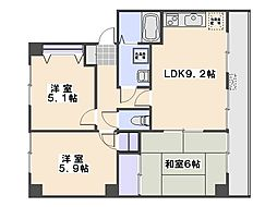 ラ・プラージュ屋代[2階]の間取り