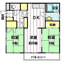 JK11若槻台[1F101号室]の間取り