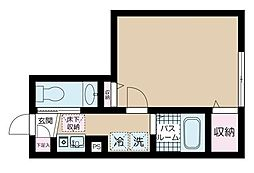 JR中央線 阿佐ヶ谷駅 徒歩12分の賃貸アパート 2階1Kの間取り