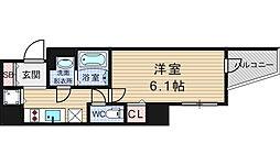 ララプレイス難波シエール[12階]の間取り