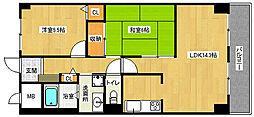 京都府京都市南区吉祥院九条町の賃貸マンションの間取り