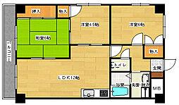 広島県広島市東区中山上2丁目の賃貸マンションの間取り